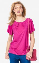 Жіноча футболка з рукавами-крильцями Burdastyle