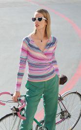 Жіночий пуловер з запахом Burdastyle