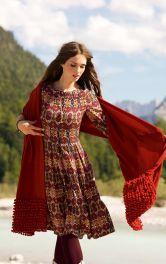 Жіночий довгий шарф Burdastyle