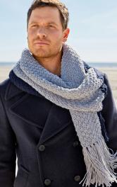 Чоловічий шарф з бахромою Burdastyle