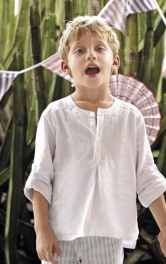 Дитяча сорочка із застібкою поло Burdastyle