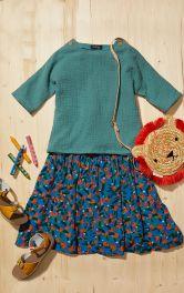 Детская блузка простого кроя Burdastyle