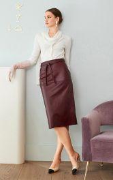 Женская кожаная юбка Burdastyle