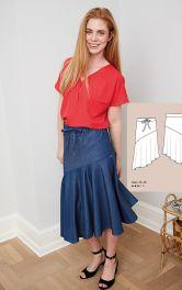 Женская юбка с воланом Burdastyle фото 1