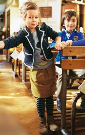 Дитяча спідниця зі складками Burdastyle