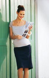 Жіноча трикотажна спідниця для вагітних Burdastyle