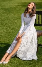 Жіноча довга спідниця із запахом Burdastyle