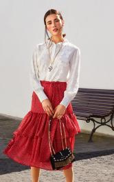 Жіноча спідниця з оборками Burdastyle