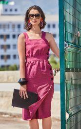 Жіноча лляна сукня Burdastyle