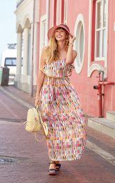 Жіноча сукня максі на бретелях Burdastyle