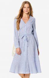 Женское платье рубашечного кроя Burdastyle