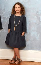 Детское платье свободного кроя Burdastyle