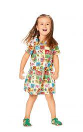 Дитяча сукня з пишною оборкою Burdastyle