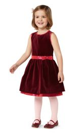 Дитяча оксамитова сукня Burdastyle