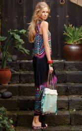 Жіноча трикотажна максі-сукня Burdastyle
