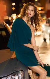 Жіноча сукня з одним рукавом Burdastyle
