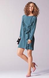 Жіноча сукня міні з воланами Burdastyle
