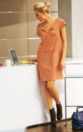 Жіноча замшева сукня Burdastyle