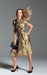 Жіноча сукня з драпіровками Burdastyle