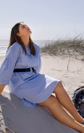 Жіноча сукня-сорочка з пластроном Burdastyle