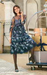 Жіноча двошарова сукня Burdastyle
