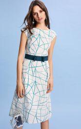 Женское платье с вырезом-лодочкой Burdastyle