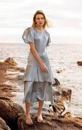 Женское платье с воланами Burdastyle