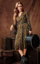 Жіноча сукня з V-подібним вирізом Burdastyle