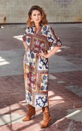Женское платье с застежкой поло Burdastyle фото 1