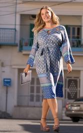 Жіноча сукня з поясом обі Burdastyle