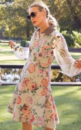 Жіноча сукня з клинами годе Burdastyle