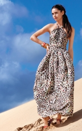 Жіноча сукня з бретеллю-петлею Burdastyle