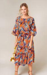 Жіноча сукня з оборкою Burdastyle