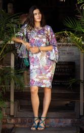 """Жіноча сукня з рукавами """"летюча миша"""" Burdastyle"""