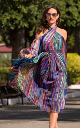Жіноча сукня з відкритими плечима Burdastyle