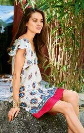 Жіноча сукня з воланами Burdastyle