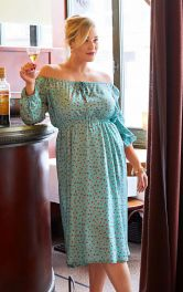 Жіноча сукня з вирізом кармен Burdastyle