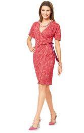 Жіноча сукня з запахом Burdastyle