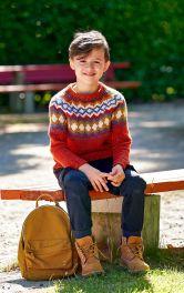 Дитячий в'язаний светр Burdastyle