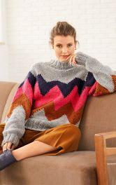Жіночий в'язаний светр Burdastyle