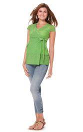 Жіноча блузка з запахом для вагітних Burdastyle