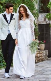 Жіноча весільна сукня з мережива Burdastyle