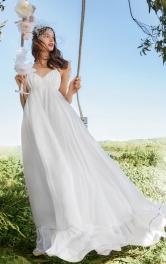 Жіноча весільна сукня на бретелях Burdastyle