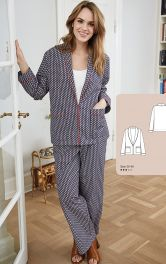 Женский жакт в пижамном стиле Burdastyle фото 1