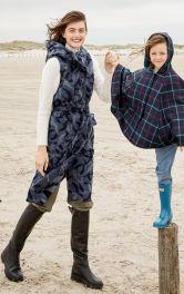 Женский длинный жилет с капюшоном Burdastyle