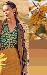 Осінній триколор: зелений, жовтий і бордо