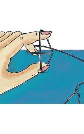 Повітряні петлі з ниток: два способи виконання