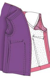 Промисловий спосіб пришивання підкладки до пальта і жакета