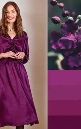Пурпурова сукня, що нагадує орхідею