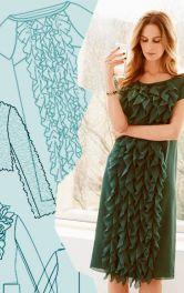 Рюши в актуальном дизайне одежды